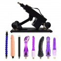 Automatic Sex Machine Multispeed Adjustable Thrusting with 8 Attachments Dildo Masturbator Adult Toy