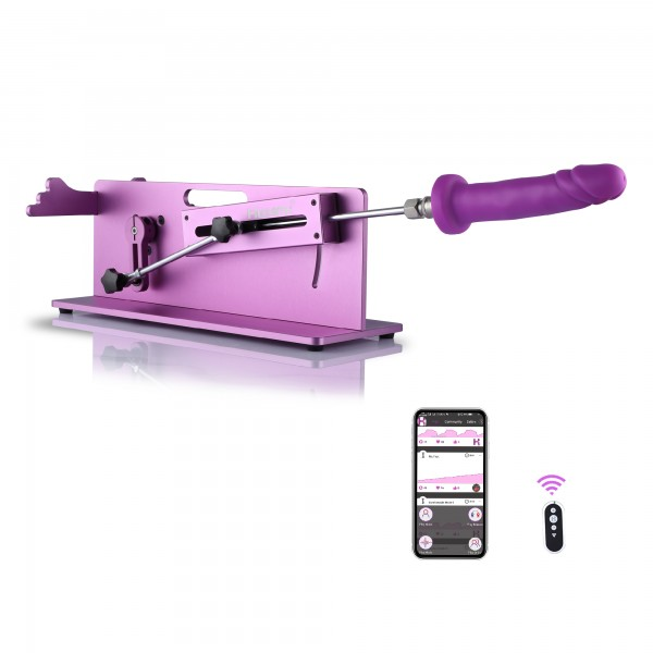 Hismith Table Top 2.0 Pro - Macchina del sesso premium con controllo 3 in 1 APP / Telecomando / Cavo - Viola